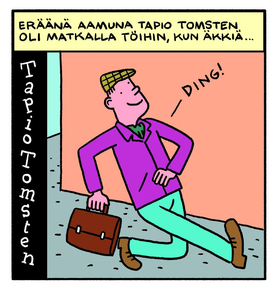 SARJAKUVA: Tapio Tomsten 1/2018