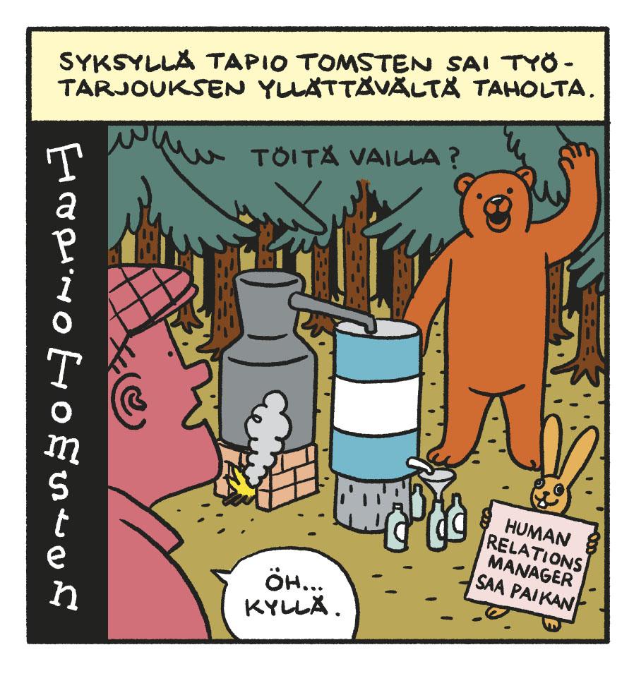 SARJAKUVA: Tapio Tomsten 3/2018