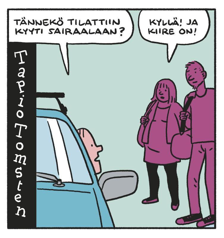 SARJAKUVA: Tapio Tomsten 7/2018