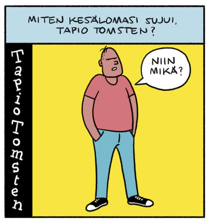 SARJAKUVA: Tapio Tomsten 8/2018