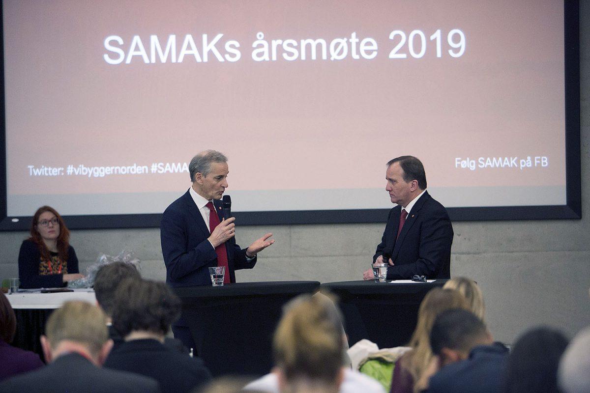 """Sveriges statsminister Löfven i Helsingfors: """"En sjunkande organiseringsgrad dåligt för samhället"""""""