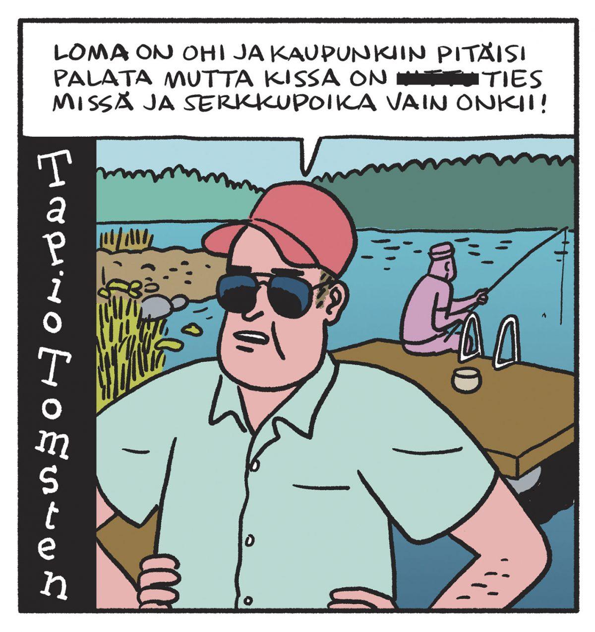SARJAKUVA: Tapio Tomsten 8/2019