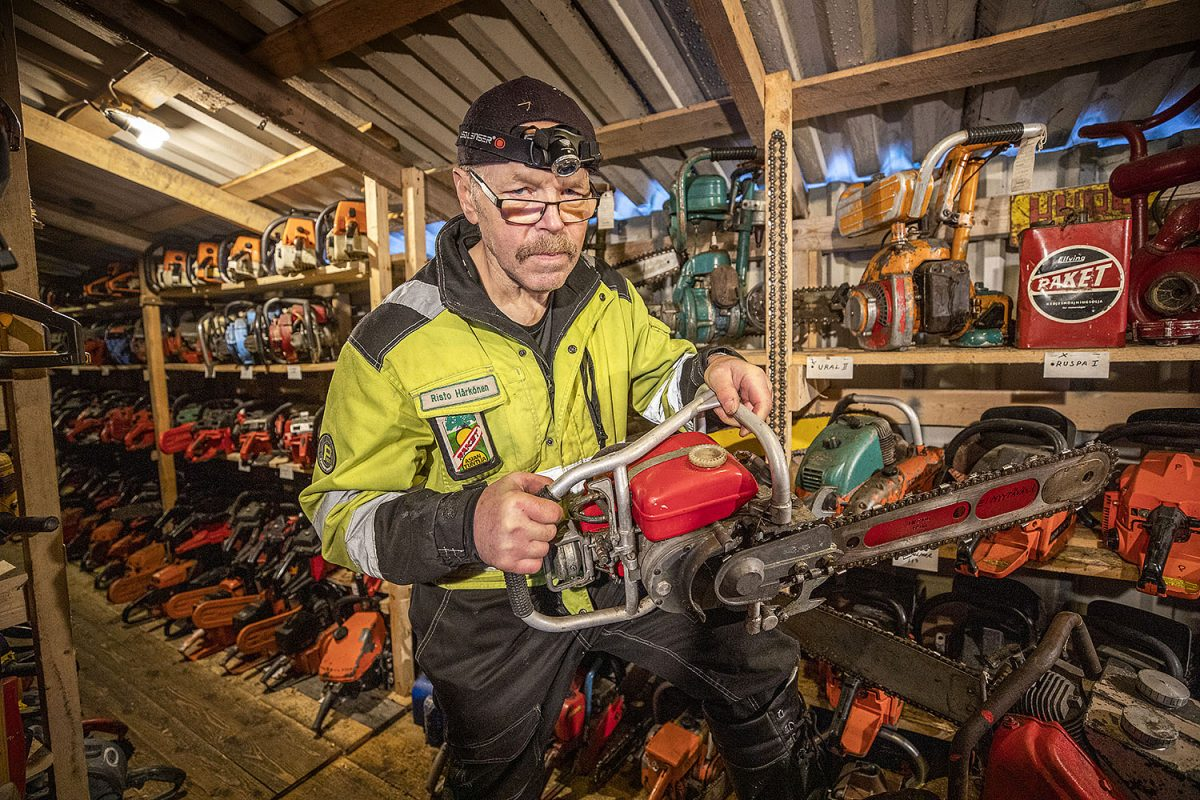 HARRASTAJA: Risto Härkönen on moottorisahakeräilijöiden kuninkuussarjaa