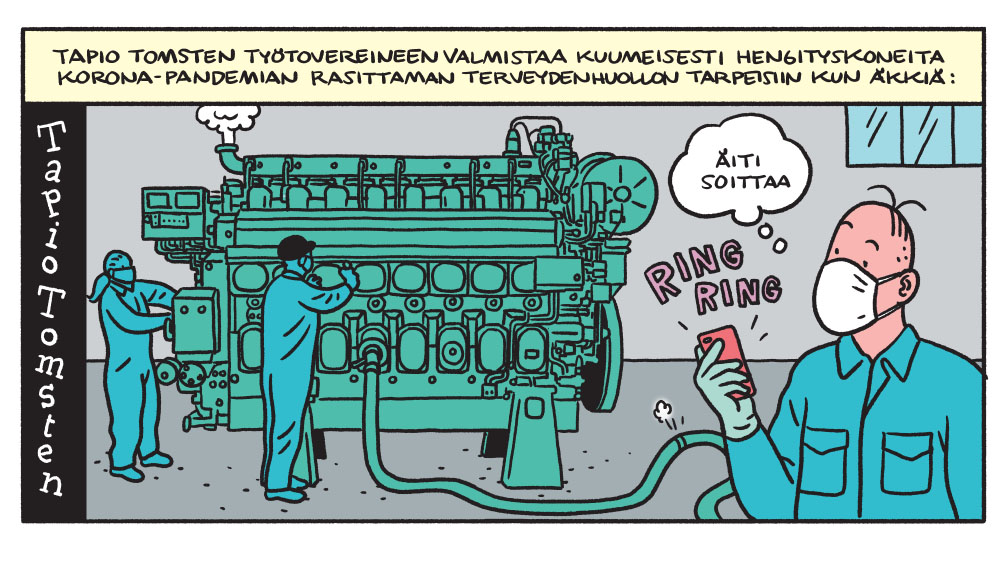 SARJAKUVA: Tapio Tomsten 4/2020