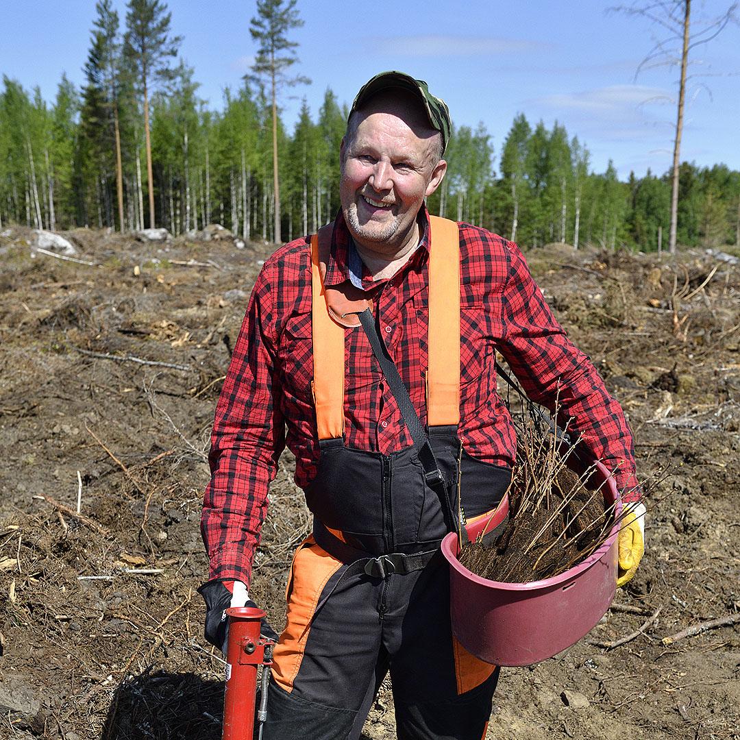 """REPORTAASI: """"Kotimaista istuttajaa kannattaa käyttää"""" – Metsuri lyö kesätyössään jopa 1500 tainta maahan päivässä"""