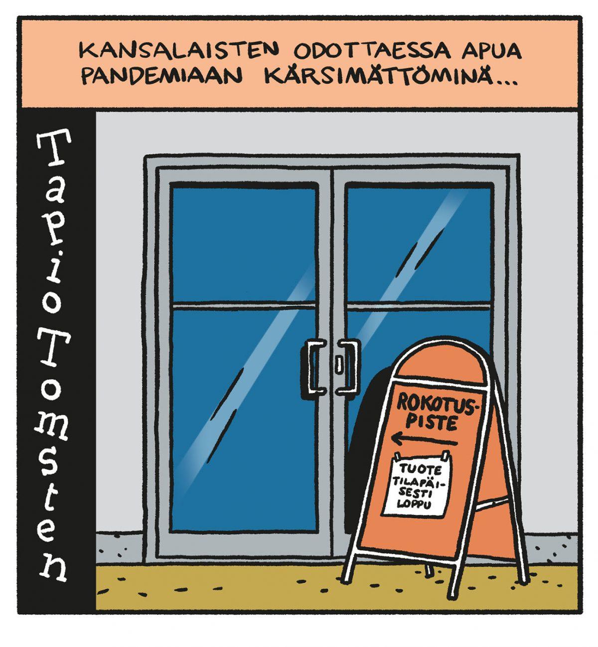 SARJAKUVA: Tapio Tomsten 2/2021